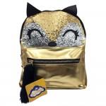 Sanwa Glitter Teens Backpack Fox