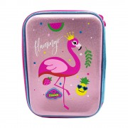 Sequin Reverse Hardtop P.Case Flamingo